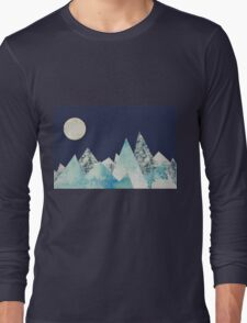 Mountain and Moon Collage Long Sleeve T-Shirt