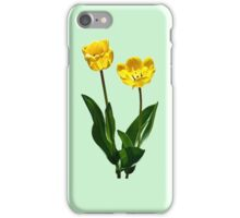 Backlit Yellow Tulips iPhone Case/Skin