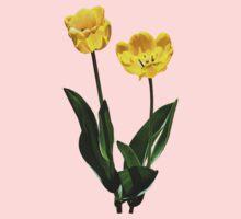 Backlit Yellow Tulips One Piece - Long Sleeve