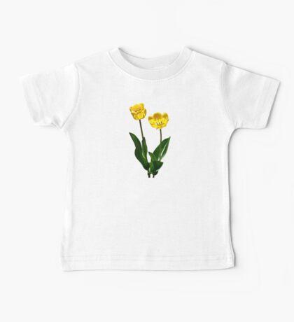 Backlit Yellow Tulips Baby Tee