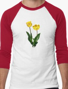 Backlit Yellow Tulips Men's Baseball ¾ T-Shirt
