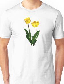 Backlit Yellow Tulips Unisex T-Shirt
