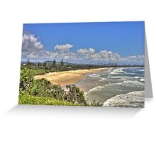 Dreamtime Beach from Fingal's Head, NSW, Australia Greeting Card