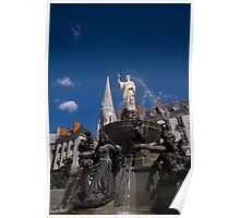 Fountain on Place Royale Poster