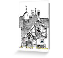 Pac-Man Haunted House Greeting Card