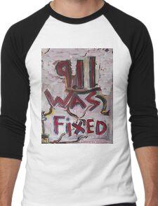 9-11 WAS FIXED WHITE Men's Baseball ¾ T-Shirt