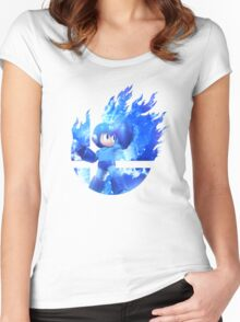 Smash Hype - Megaman Women's Fitted Scoop T-Shirt