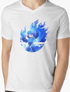 Smash Hype - Megaman Mens V-Neck T-Shirt