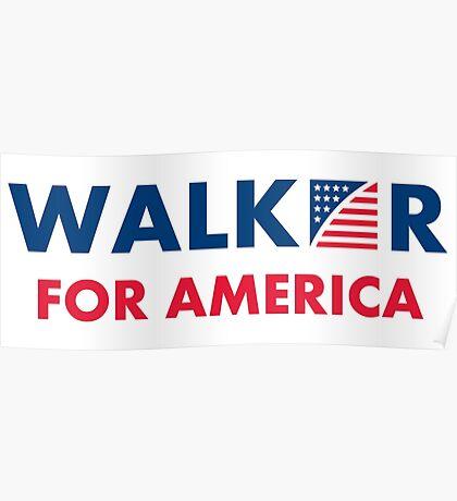 Scott Walker For America Poster