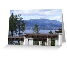 Mountain View From Vineyard Greeting Card