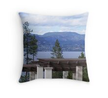Mountain View From Vineyard Throw Pillow