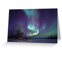 Aurora Borealis over Gordon Lake Greeting Card