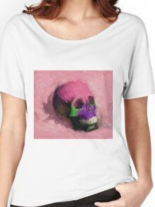 Pink Skull Women's Relaxed Fit T-Shirt