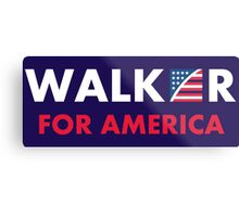 Scott Walker For America Metal Print