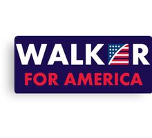 Scott Walker For America Canvas Print