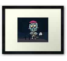 Frank the Zombie Framed Print
