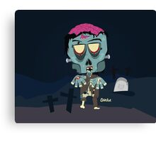 Frank the Zombie Canvas Print