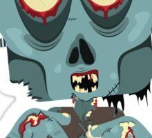 Frank the Zombie Sticker