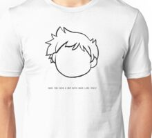 Boy with hair Unisex T-Shirt