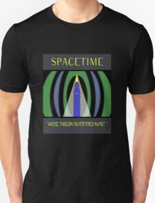 Visit Spacetime - Where Thrilling Adventures Await T-Shirt