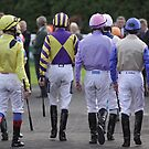 A joggle of jockeys...... by lulu kyriacou