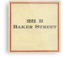 221 B Baker Street Metal Print