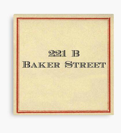 221 B Baker Street Canvas Print