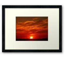 Crimson Sunset on the Horizon... Framed Print