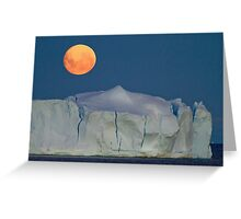 Blue (full) moon over Antarctica Greeting Card