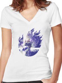 Smash Hype - Sheik Women's Fitted V-Neck T-Shirt