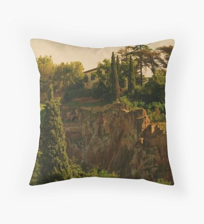 """"""" Orvieto Hillside"""" Throw Pillow"""