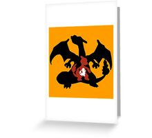 Charmander-Charmelon-Charizard Evolution Greeting Card
