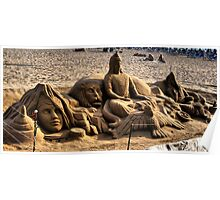 Sculpture in the Sand. Poster