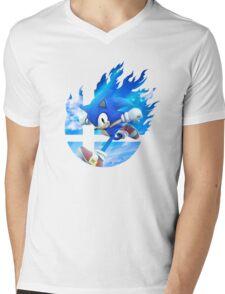 Smash Hype - Sonic Mens V-Neck T-Shirt