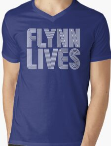 FLYNN LIVES Mens V-Neck T-Shirt