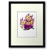 Smash Hype - Wario Framed Print