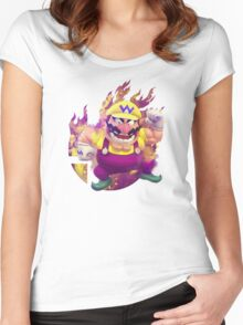 Smash Hype - Wario Women's Fitted Scoop T-Shirt