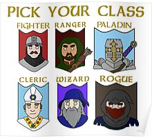 Pick Your Character Class Poster