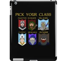 Pick Your Character Class iPad Case/Skin