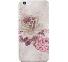 Vintage Pink Teacup & Flowers iPhone Case/Skin