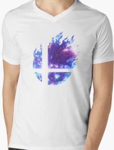 Smash Hype - Blue Mens V-Neck T-Shirt