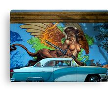 CLASSIC CARS AND MURALS Canvas Print