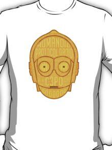 C3PO typographic android design chock full of trivia! T-Shirt