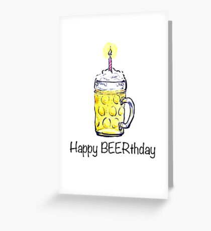 Happy Beerthday Greeting Card