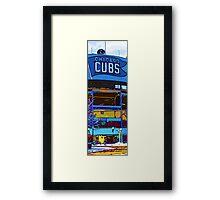 chicago cubs bleachers in winter Framed Print