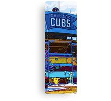 chicago cubs bleachers in winter Canvas Print