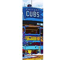 chicago cubs bleachers in winter Photographic Print