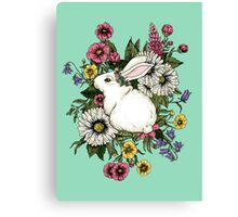 Rabbit in Flowers Canvas Print