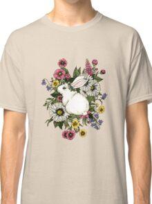 Rabbit in Flowers Classic T-Shirt