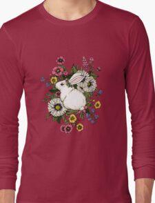 Rabbit in Flowers Long Sleeve T-Shirt